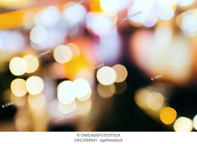 Beautiful bokeh photography of street light