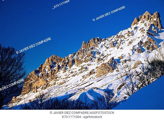 Torre del Friero. Central Massif. Picos de Europa National Park. Leon province. Castilla y Leon. Spain