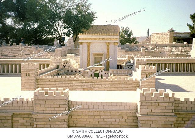 Parapets and walls of the City of David in Jerusalem, Israel, 1975