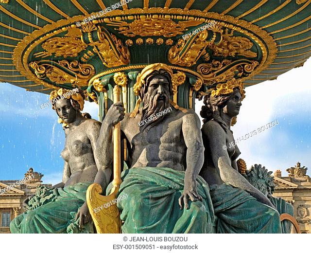 Paris - The fountain in Concorde Square