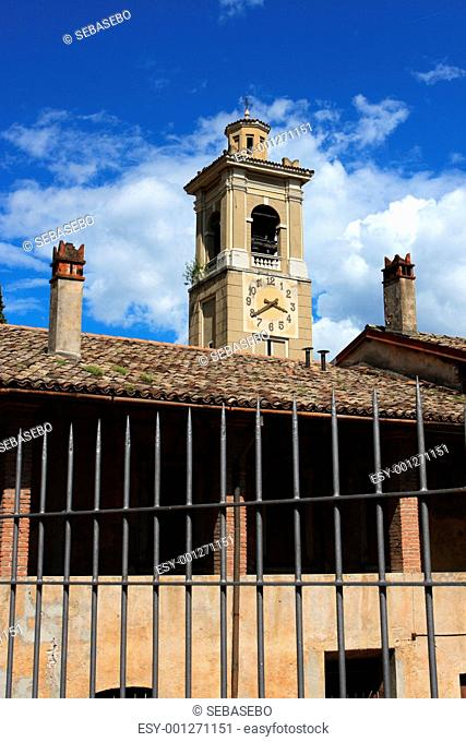 Italian tower with clock