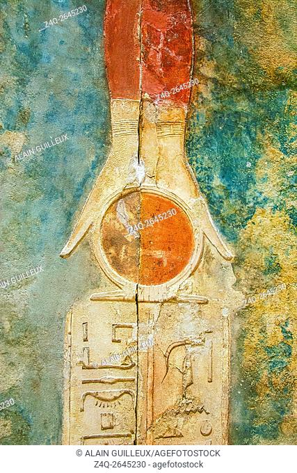 Egypt, Cairo, Heliopolis, a zone prepared to be an open air museum in the future. Tomb of Panehesy, 26th dynasty (saite)