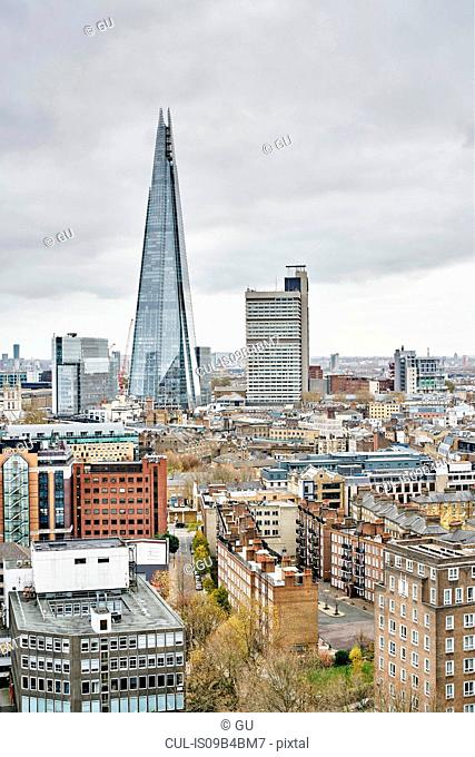 City skyline with The Shard building, London, UK