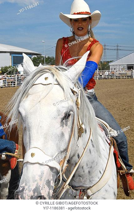 Cowgirl on horse