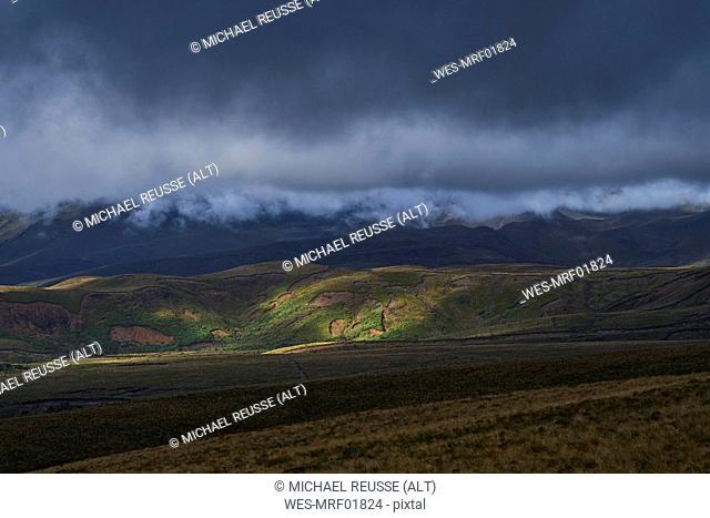New Zealand, North Island, Tongariro National Park, volcanic landscape