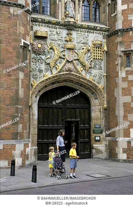 Cambridge Cambridgeshire England Great Britain United Kingdom entrance to the S. John's College