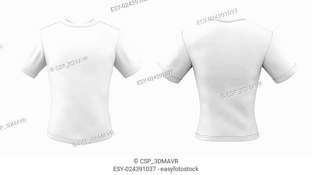 Templates t-shirts front and back for your design