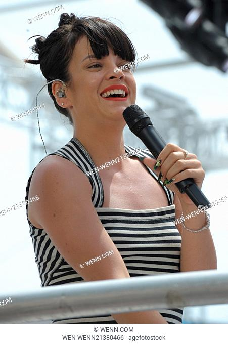 Cara Delevigne on the Martinez Beach Featuring: Lily Allen Where: Cannes, France When: 21 May 2014 Credit: WENN.com