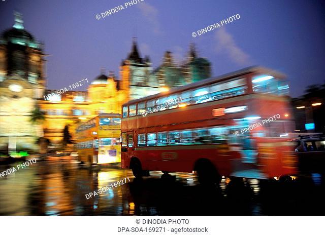 Victoria terminus vt now chhatrapati shivaji terminus cst railway station , Bombay Mumbai , Maharashtra , India