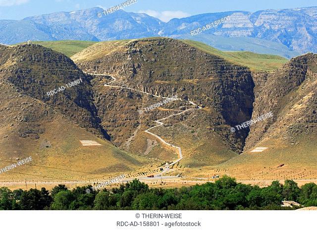 Kopet Dag mountains view from Nisa Ashgabat Turkmenistan Asgabat
