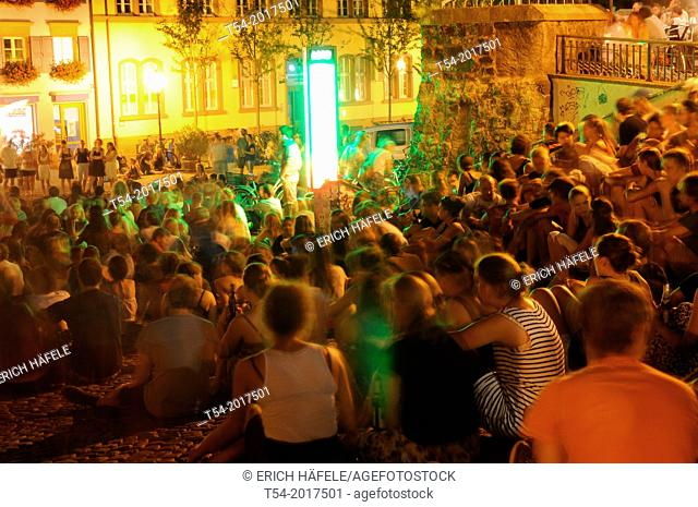Student party at the Augustinian place in Freiburg im Breisgau