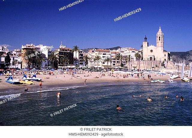 Spain, Catalonia, Costa Dorada, Sitges