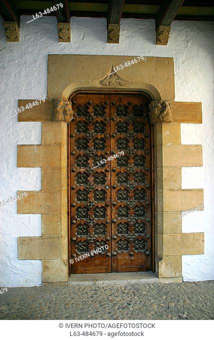Door. Maricel Palace. Sitges, Barcelona province. Catalonia, Spain