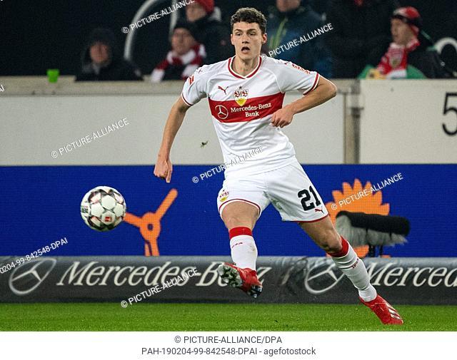 03 February 2019, Baden-Wuerttemberg, Stuttgart: Soccer: Bundesliga, VfB Stuttgart - SC Freiburg, 20th matchday in the Mercedes-Benz Arena