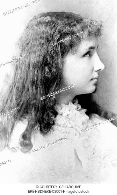 Helen Keller at 12 years of age in 1892