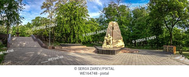 Ukraine Odessa monument to honours of Soviet soldiers killed in Afghanistan