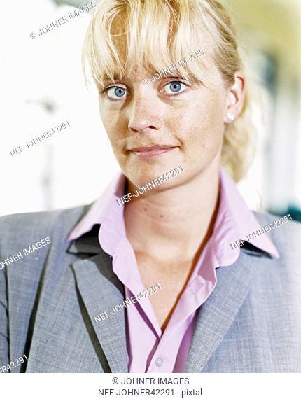 Closeup of businesswoman