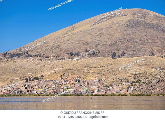 Peru, Puno Province, Puno on the banks of Titicaca lake
