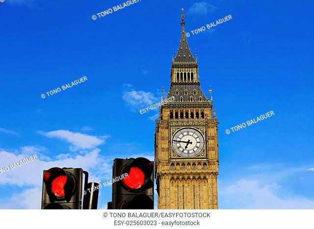 Big Ben Clock Tower closeup in London England