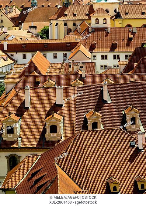 Roofs of Prague. Czech Republic