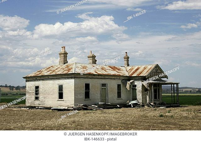 Remains of an old farm house. Mitchell River National Park, East Gippsland, Victoria, Australia