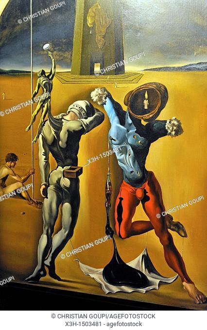 The Cosmic Athletes, Dali Theatre and Museum, Figueres Costa Brava, Catalonia, Spain, Europe