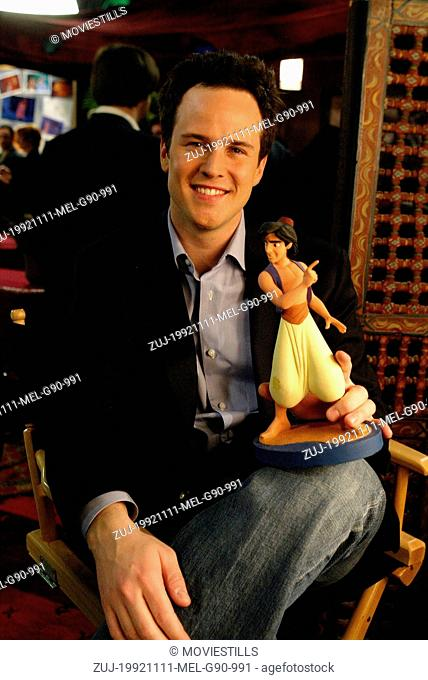 Nov 11, 1992; Los Angeles, CA, USA; SCOTT WEINGER as the voice of Aladdin in the animated family musical comedy 'Aladdin' directed by Ron Clements