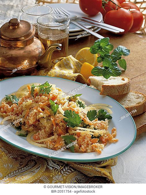 Colourful couscous salad, Lebanon