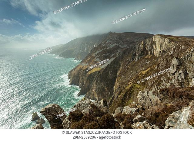 Slieve League cliffs near Carrick in county Donegal, Ireland