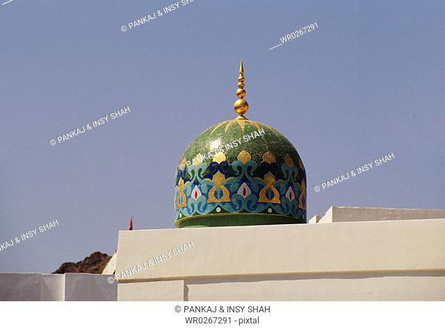 Intricate designed dome in Oman