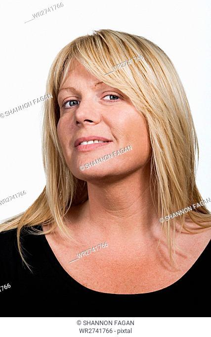 Portrait of mid adult Caucasian woman