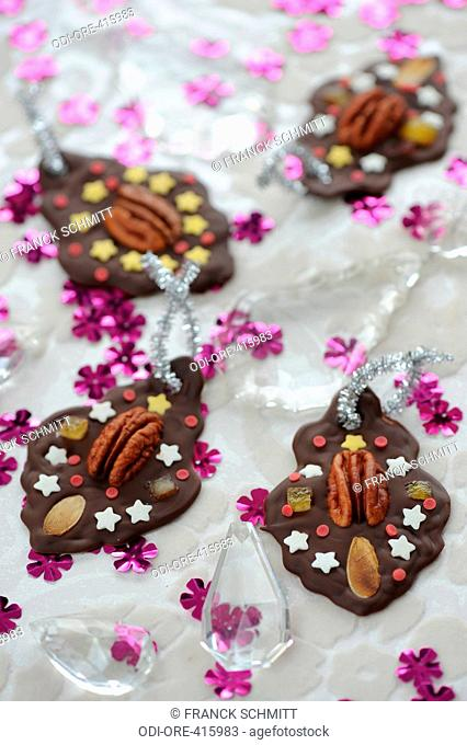 Chocolate with dried fruits