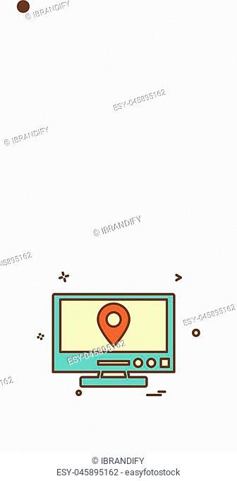 Monitor icon design vector