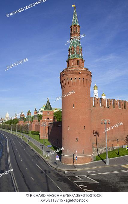 The Moskvoretskaya Tower, Kremlin, UNESCO World Heritage Site, Moscow, Russia