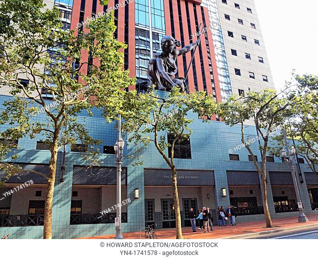 Portlandia is a copper statue above the entrance to the Portland Building in Portland, Oregon It is the second largest copper repoussé statue in the United...
