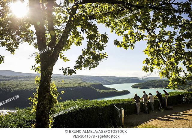 Point of View of Vouglans lake (department of Jura, region of Bourgogne-Franche-Comté, France)