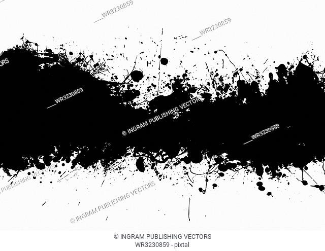 Grunge black ink banner with room to add your own text