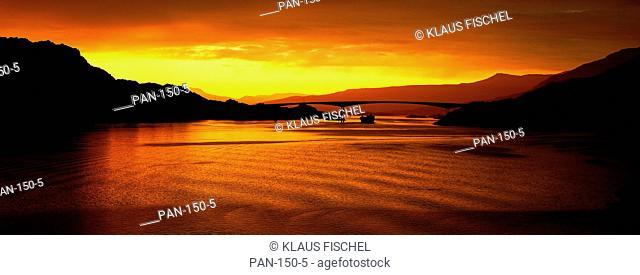 Raftsundet Bridge at Sunset, Lofoten Islands, Norway