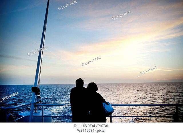 Couple in ship