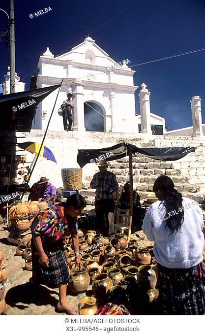 Market in Santo Tomas Church  Chichicastenango  Guatemala