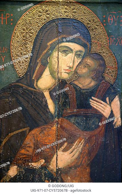 Icon in Pedoulas byzantine museum : the Virgin Eleousa
