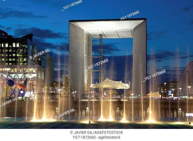 Le grand arche, La defense, Paris, France