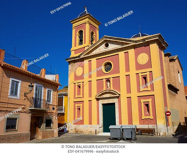 Borboto village church in Valencia of Spain