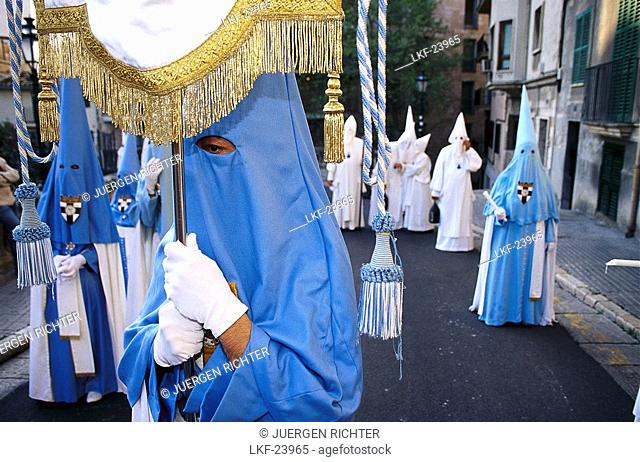 Procession of Penitents, Semana Santa, Holy Week, Palma de Mallorca, Mallorca, Majorca, Balearic Islands, Spain