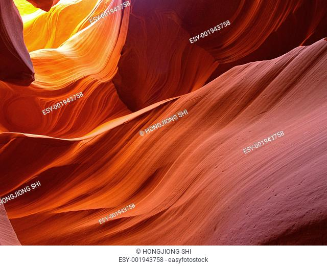 The lower Antelope Slot Canyon
