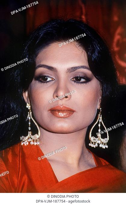 1980, Portrait of Indian film actress Praveen Babi