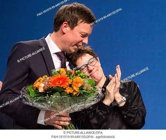 dpatop - 19 October 2018, Saarland, Neunkirchen: 19 October 2018, Germany, Neunkirchen: Annegret Kramp-Karrenbauer, CDU Secretary General