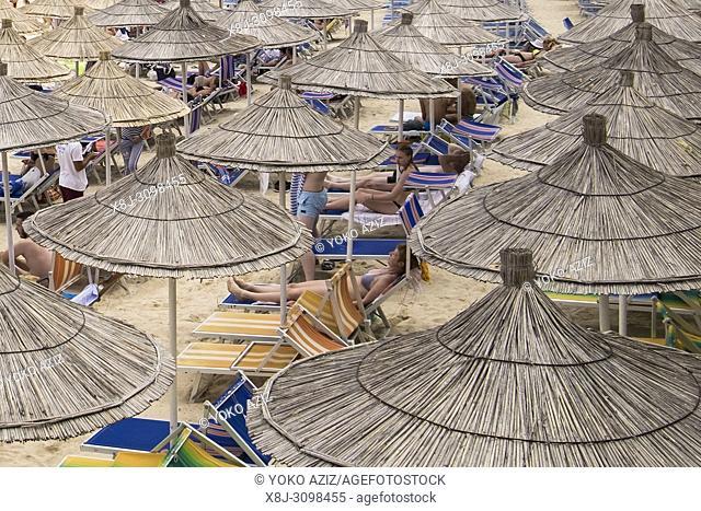 Albania, Ksamil, the beach