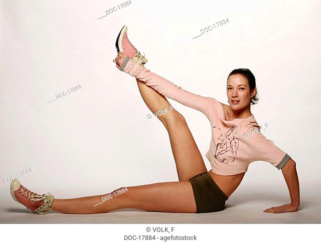 woman - stretching - exercise