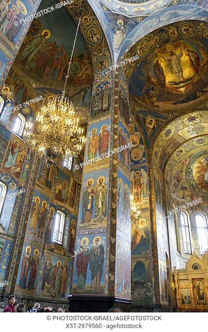 Interior of the Church of the Savior on Spilled Blood, St. Petersburg, Russia